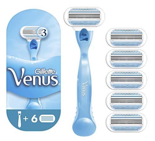 Gillette Venus Rasoio da Donna con 6 Lamette di Ricarica