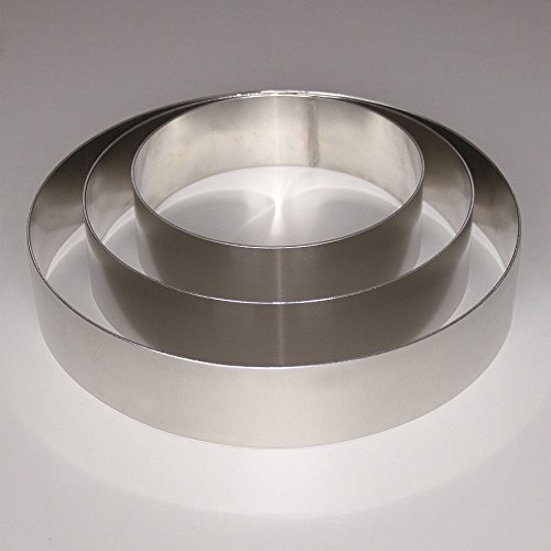 Tortenring Set für 3er Tortenständer Hochzeitstorte Tortenringe für Bisquit Höhe 5 cm