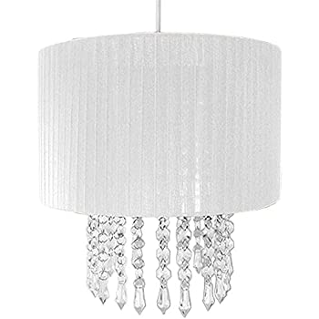 White - Fabric and Beads - Chandelier