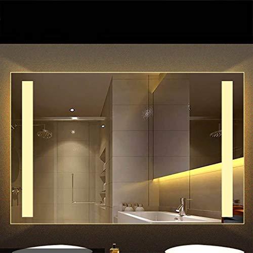 Sin Marco Iluminado LED Luz de baño Espejo Control táctil Montado en la Pared...