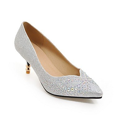 Zormey Frauen Heels Fr¨¹hling Sommer Herbst Winter Club Schuhe Kundenspezifischen Materialien Hochzeit Party & Amp Abendkleid Stiletto Heelsequin Schaumwein US5.5 / EU36 / UK3.5 / CN35