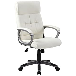 Alford Executive Leather Office Chair - Atlantis Office (White Leather)