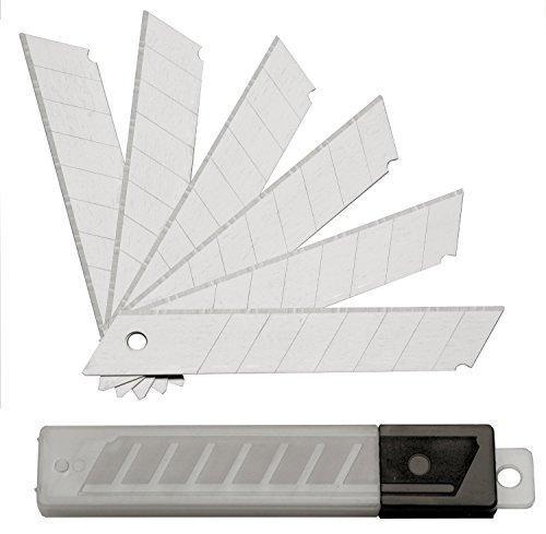 100 Stück Abbrechklingen - Ersatzklingen für Cuttermesser im Magazin - 18 mm