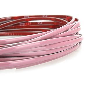 Inneres KINGZER Band Leiste rosafarbener Umrandung Oberschale Deko AUTO von 5 M für japanische Fahrzeuge