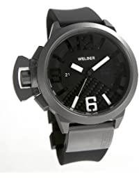 Welder K24 3002 - Reloj analógico de caballero automático con correa de goma negra - sumergible a 100 metros