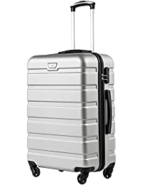 febd5488b060 COOLIFE Suitcase Trolley Carry On Hand Cabin Luggage Hard Shell Travel Bag  Lightweight 2 Year Warranty