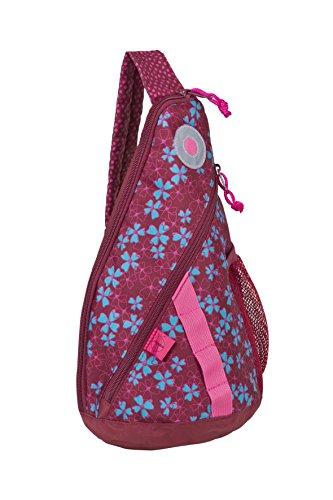 Lässig Mini Sling Chest Bag Kinder Schulter-Rucksack Brust-Umhängetasche Crossbody mit eine Gurt, Blossy Pink Pink Sling