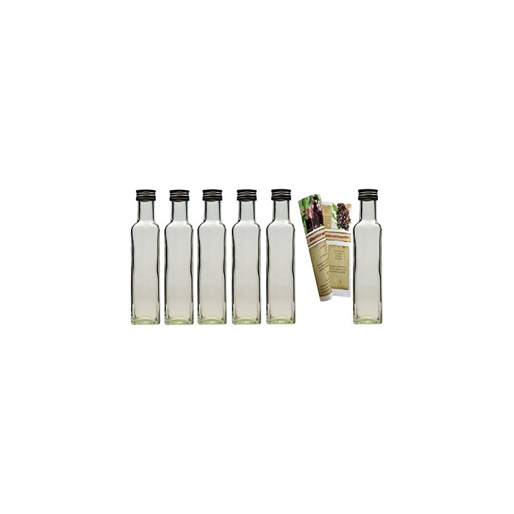 Set Leere 250 Ml Maraska Glasflaschen Incl Schraubverschluss Und 28 Seitige Flaschendiscount Rezeptbroschre Likrflaschen Schnapsflaschen Essigflaschen Lflaschen