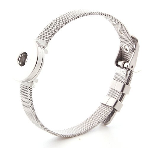 l Snap Armbänder mit 4 18-20 mm Strass Snap Charms Snap Button Jewelry ()