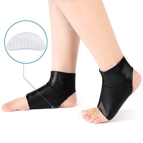 Doact Fußgewölbe mit Knöchelschutz, Compression Flat Foot Socken Lycra-Stoff mit Gel-Einsätzen, Orthetisches Einlegesohle-Kissen für Damen und Herren Plantar Fasciitis, Ferse, Bogen Schmerzlinderung -