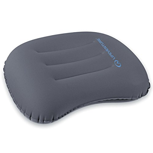 Lifeventure Travel Inflatable Travel & Camping Pillow, Grey, 1 Count (Pack of 1)