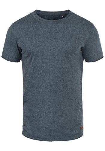 !Solid Tao Herren T-Shirt Kurzarm Shirt Mit Rundhalsausschnitt, Größe:M, Farbe:Insignia Blue Melange (8991)