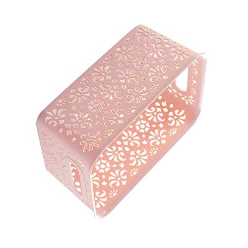 Baoblaze Aufbewahrungsboxen/Kisten mit Deckel, Lila, Rosa, Blau - Rosa Korb (Klein) (Rosa Korb)
