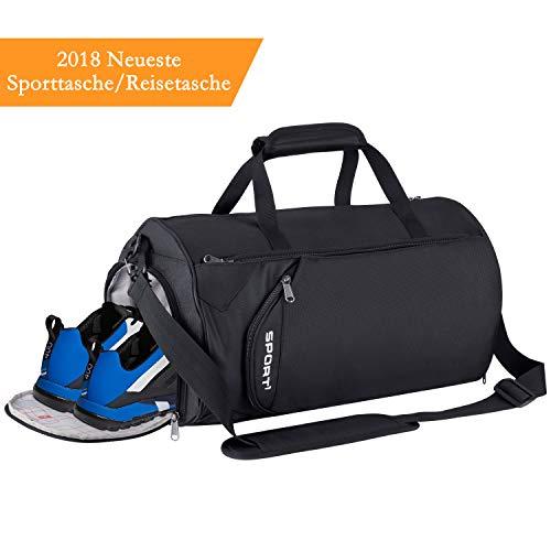 LC-dolida Sporttasche,28L Reisetasche mit Schuhfach wasserdicht,Fitness Tasche Sporttasche Herren Damen für Fitness Reise Sport