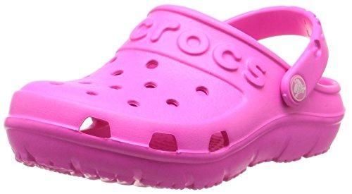 Crocs hilo clog k, zoccoli unisex – bambini, rosa (neon magenta), 28-29