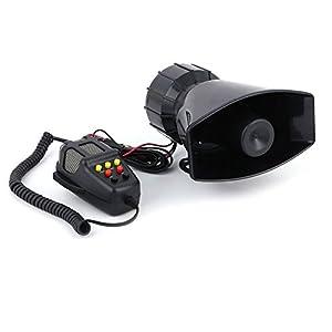 Características: Tipo: Alarma de seguridadMaterial: ABSTamaño: 152 x 120 x 70 mm / 5.98x4.73x2.76 pulgadasNivel de sonido: 120dBPotencia: 100W 5AVoltaje: 12VImpedancia: 4ΩDe color negroEl elemento es 7 bocina de sirena de coche de sonido de tono con ...