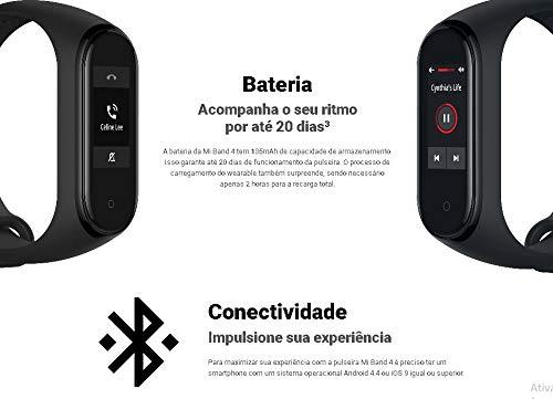 Xiaomi Mi Smart Band 4 - Tracker de actividad física con medidor de frecuencia cardíaca - Negro - Unisex