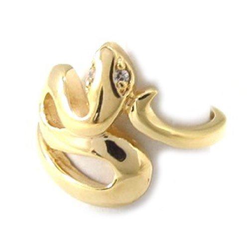 Les Trésors De Lily [B2107] - Ring vergoldet 'Cobra Egyptien' . -