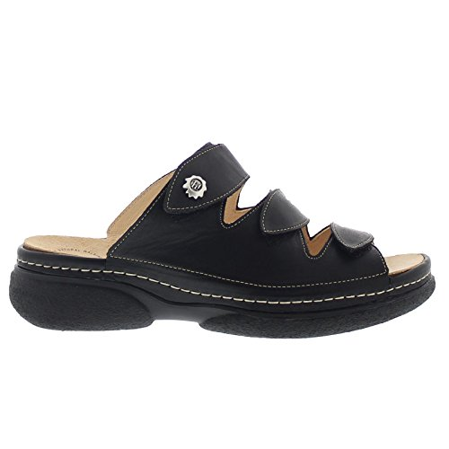 Think Womens Cambio Slide Leather Sandals Noir