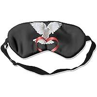 Eye Mask Eyeshade Dove with Heart Sleeping Mask Blindfold Eyepatch Adjustable Head Strap preisvergleich bei billige-tabletten.eu