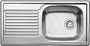 BLANCO Magnat Évier de cuisine, acier inoxydable finition naturelle, 511916