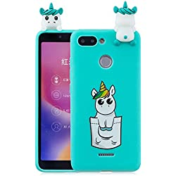 a6254b8f080 HopMore Funda para Xiaomi Redmi 6 Silicona Dibujo 3D Divertidas Panda  Animal Carcasa Kawaii TPU Gel
