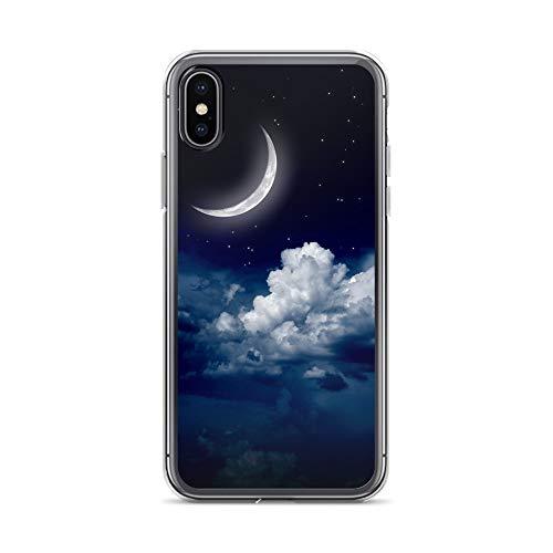 blitzversand Handyhülle Natur kompatibel für LG G2 Mondsichel Schutz Hülle Case Bumper transparent M14 (Lg G2 Phone Case)