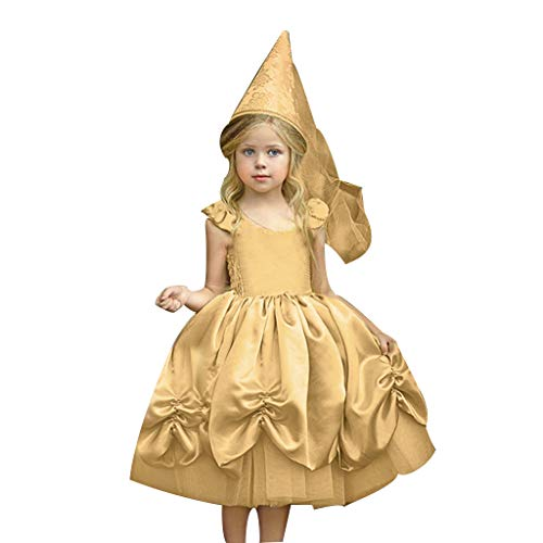 Prinzessin Kleid Mädchen Kostüm Märchen Cosplay Kostüm Partei Outfit Festival Karnerval Geburtstag Partykleid Fotoshooting Kinder Kleinkinder Weihnachten Halloween Dress Up Lang Kleid (Kein Hut) (Up Dress Halloween Kleinkinder Für)