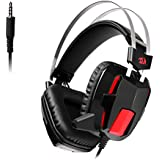 Redragon H201-1 Stereo Gaming Headset For PS4, Xbox One, PC And Smartphones, Over Ear Noise Reduction Gaming Headphone With Mic, Bass Surround, Universal 3.5mm