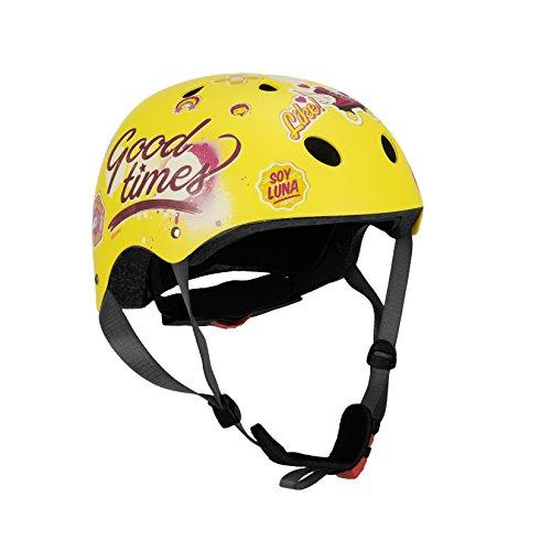 Disney Kinder Skate Helmet Soy Luna Sports, Mehrfarbig, Gr.54-58cm (Herstellergröße:S) - Disney Helm