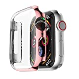 TianranRT Housse de protection ultra fine pour Apple Watch 4 40/44 mm, Or rose, 40 cm