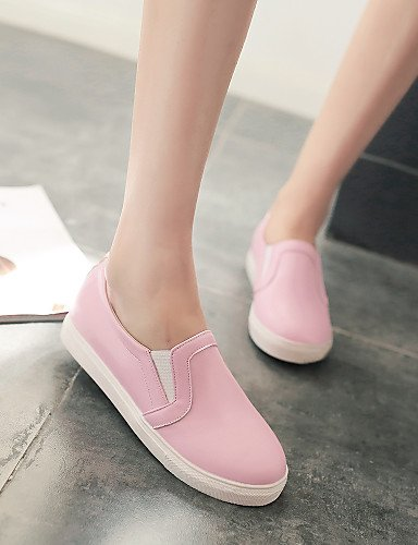 ZQ gyht Scarpe Donna - Mocassini - Casual - Punta arrotondata - Basso - Finta pelle - Nero / Blu / Rosa / Bianco , pink-us8 / eu39 / uk6 / cn39 , pink-us8 / eu39 / uk6 / cn39 blue-us5 / eu35 / uk3 / cn34