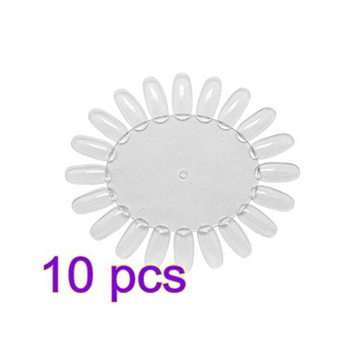 Arpoador 10 pcs Acrylique Transparent UV Motif art Faux ongles Conseils polonais Affichage Practise de roue