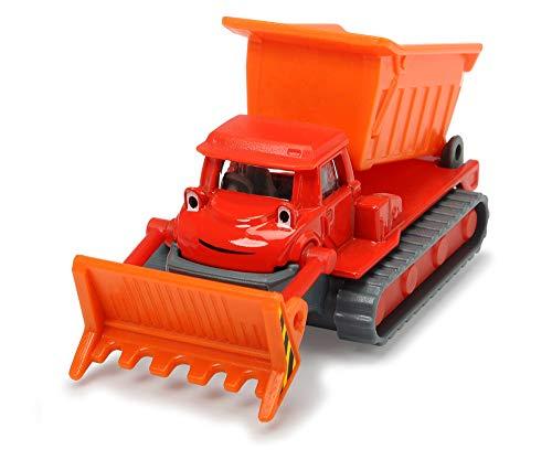 Dickie Toys 203131002 Bob der Baumeister Buddel Spielzeugauto mit Freilauf und beweglichen Teilen, 1:64, Rot, 7 cm