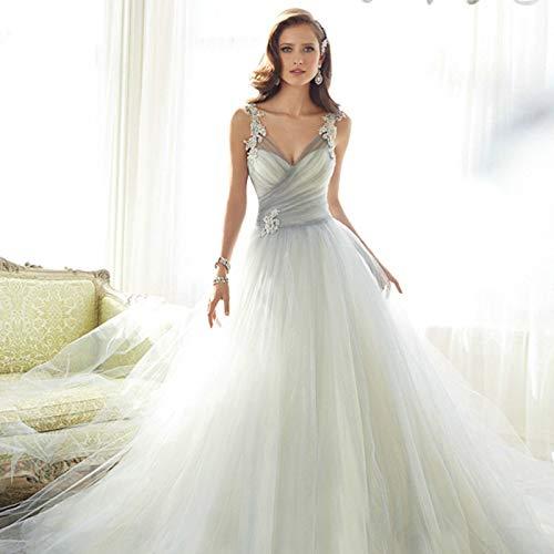WJZ Smoke Blau Abendkleid Rock Schulter Brautkleid Abendkleid Brautjungfer Kleid,Cyan,XS