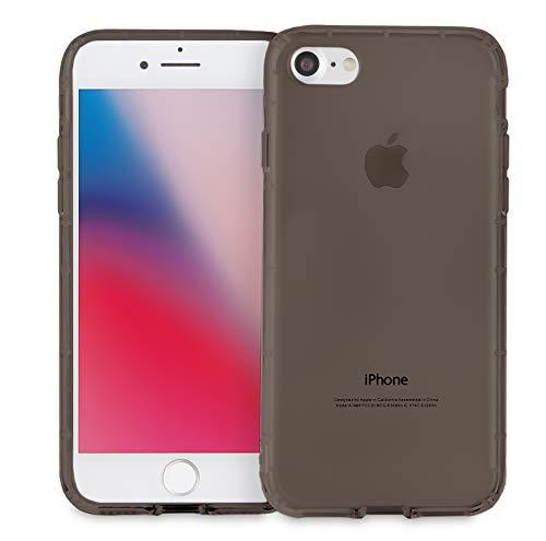 MyGadget Hülle TPU Case [Bumper Schutz] für Apple iPhone 7/8 - Crystal Clear & Stoßfest Schutzhülle - Silikon Back Cover dünne Handyhülle in Grau