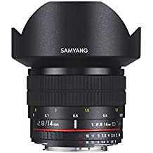 Samyang AE 14 mm IF ED UMC - Objectivo para Canon, color negro