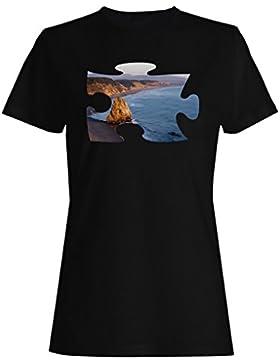 Puzzle playa imagen sueño colina regalo camiseta de las mujeres d910f