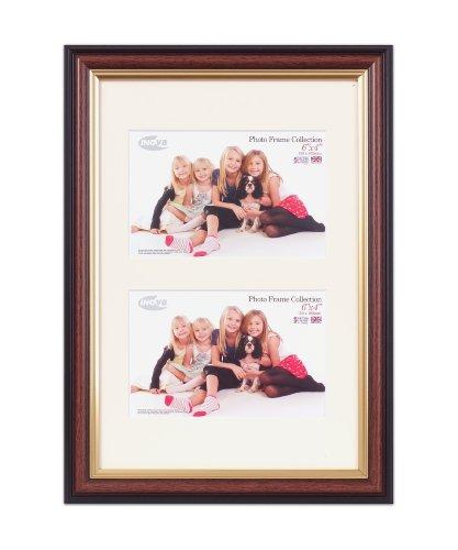 Inov8 PFES-MAGY-DA1 Traditionell Briten Foto und Bilderrahmen, 20 x 30 cm, Dual Blende 2x 10 x 15 cm, mahogani