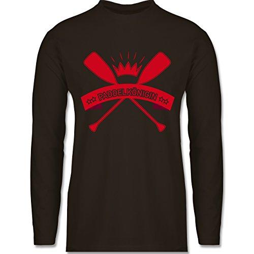Wassersport - Paddelkönigin - Longsleeve / langärmeliges T-Shirt für Herren Braun
