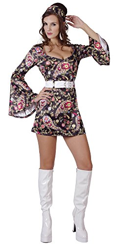 Bristol Novelty AC865 Disco Dress, Multi-Colour, Size 10-14