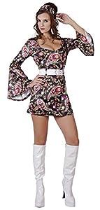 70s FANCY DRESS disco GOGO HIPPY RETRO 60 girl 10 12 14 (disfraz)