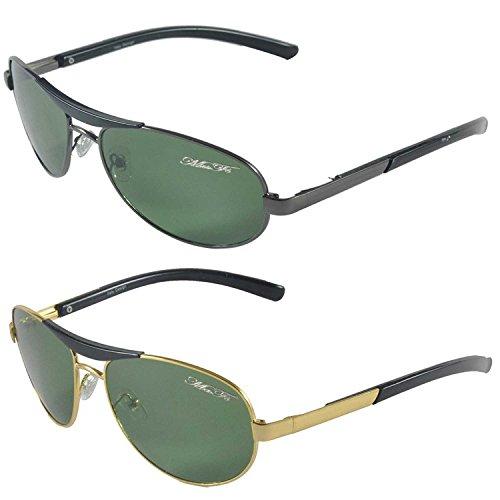 MaFs Combo Pack of 2 Classic Black Aviator Wayfarer | Stylish Frame | Durable | Unisex Sunglasses Fo (Type 5)