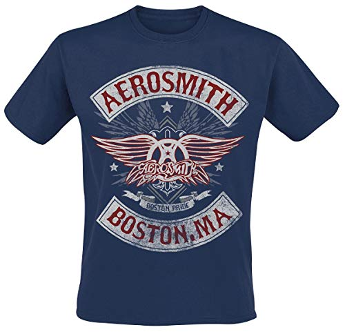 Aerosmith Boston Pride Camiseta Azul Marino XL