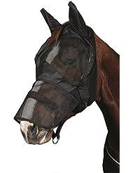 Masque anti-mouches insectes Masque cheval softmit Boucles d'Protection et mixte partie, noir