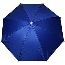 Sombrero paraguas - TOOGOO(R)Azul marino Sombrero paraguas de poliester de deportes al