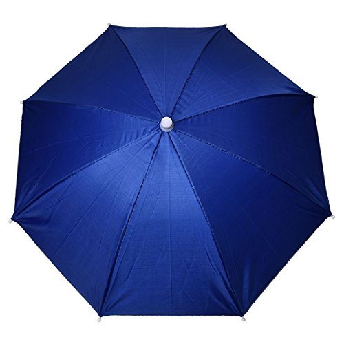 Sombrero paraguas - TOOGOO(R)Azul marino Sombrero paraguas de poliester de deportes al aire libre de pesca