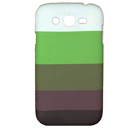 Heartly Strip Style Retro Color Armor Hybrid Hard Bumper Back Case Cover For Samsung Galaxy Grand Duos I9082 / Galaxy Grand Neo GT-I9060 / Galaxy Grand Neo Plus I9060I - Nature Green  available at amazon for Rs.249