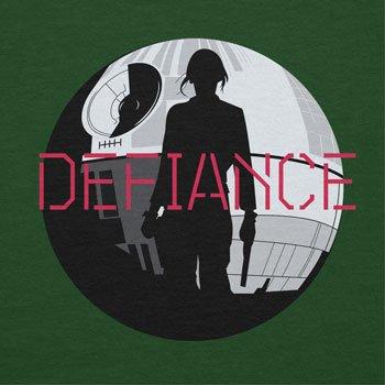 NERDO - Jyn Defiance - Herren T-Shirt Flaschengrün