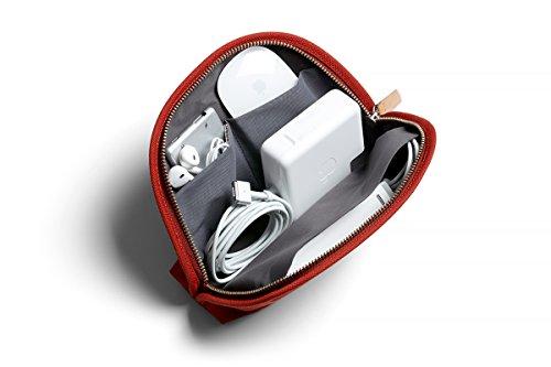 Bellroy Classic Pouch, Mäppchen, Stiftemappe, Tasche, Leder und Stoff (für Stifte, Kabel, Kosmetik, Scheren, Kopfhörer, Radiergummis) Red Ochre Tasche Pouch Case